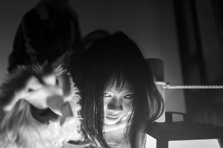 Portrait Headshot Females Women Emotion Indoors  Human Face Black And White Ghost Scream Japanese Ghost Halloween Horror The Portraitist - 2019 EyeEm Awards