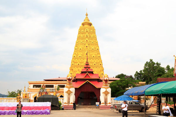 The Phutthakhaya Chedi (Pagoda) in Sangkhla Buri in Thailand Ancient Architecture Architecture Buddhism Building Exterior Built Structure Chedi Phutthakhaya Cultures Day No People Outdoors Pagoda Place Of Worship Religion Sculpture Sky Spirituality Stupa Travel Destinations
