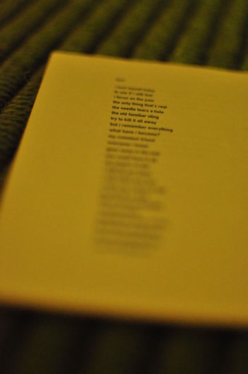 Songtext Bokeh Close-up Day Dof Indoors  No People Paper Selective Focus Songtext Text