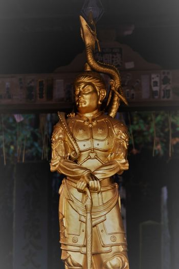 Architecture Buddha Statue, Blue Dragon, City Cultures Day Gold Gold Colored Human Representation No People Outdoors Place Of Worship Religion Sculpture Spirituality Statue