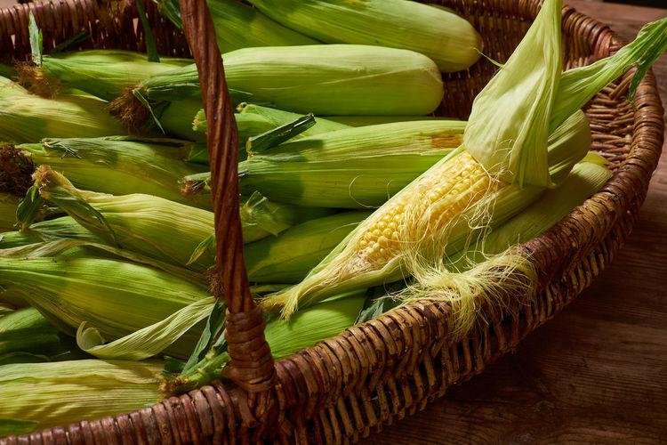 Food Vegetable Freshness Healthy Eating Corn Raw Food Corn On The Cob Agriculture Vegetarian Food Basket