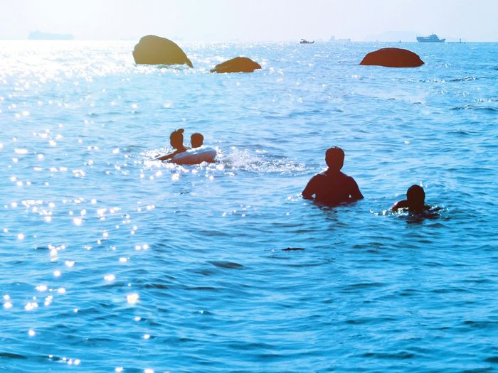 Water Sea Scenics Blue Swimming Water Surface Hi! Taking Photos EyeEm Gallery Hello World People Shore Beach Person People And Places