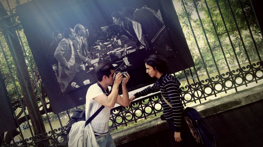 Two People Lifestyles Togetherness Men Young Adult Travel Destination Chapultepec CDMX Photographers Student Photographer Art Is Everywhere