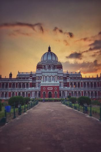 The Royal Abode Architecture Built Structure Sky Building Exterior Dome Travel Destinations History Cloud - Sky Sunset Arch Outdoors Architectural Column No People Day City Royal Royalpalace Palace Evening Evening Sky Sunset_collection Orange Sky