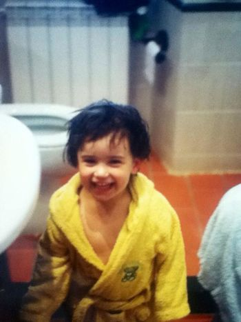 Me Someyearsago Afterbath Daddymakesmesmile