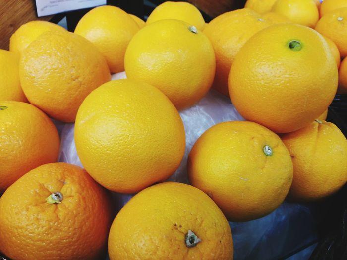 Full frame shot of oranges for sale