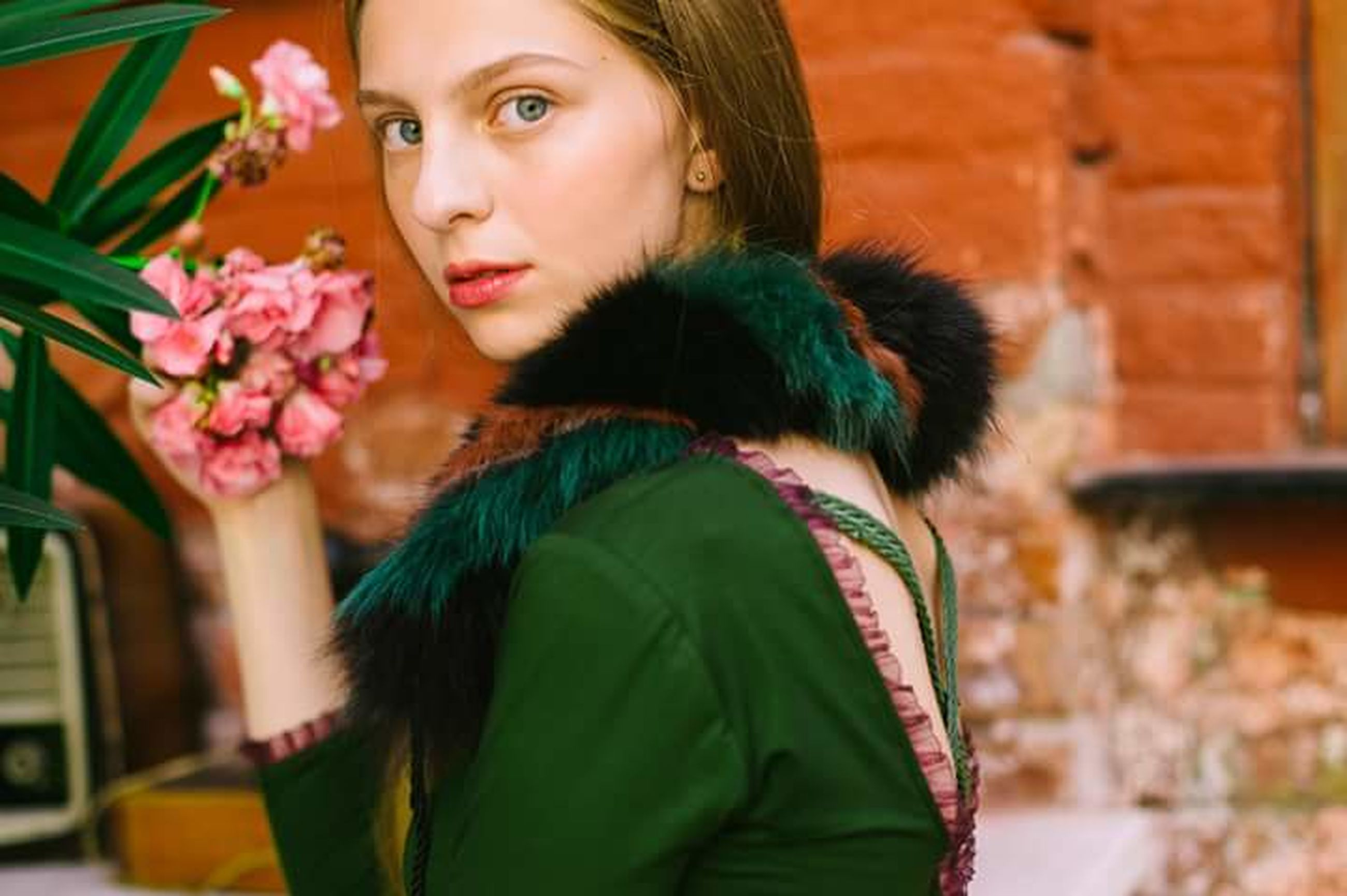 flower, only women, headshot, adults only, adult, beauty, one person, people, one woman only, portrait, outdoors, beautiful woman, fragility, women, nature, young adult, day, beauty in nature, close-up, freshness