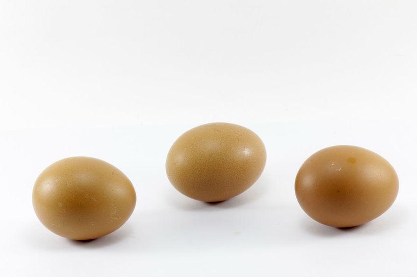 Eggs isolated on white background Eggs Isolated On White Background Close-up Food Food And Drink Freshness Fruit Healthy Eating No People Studio Shot White Background Yellow