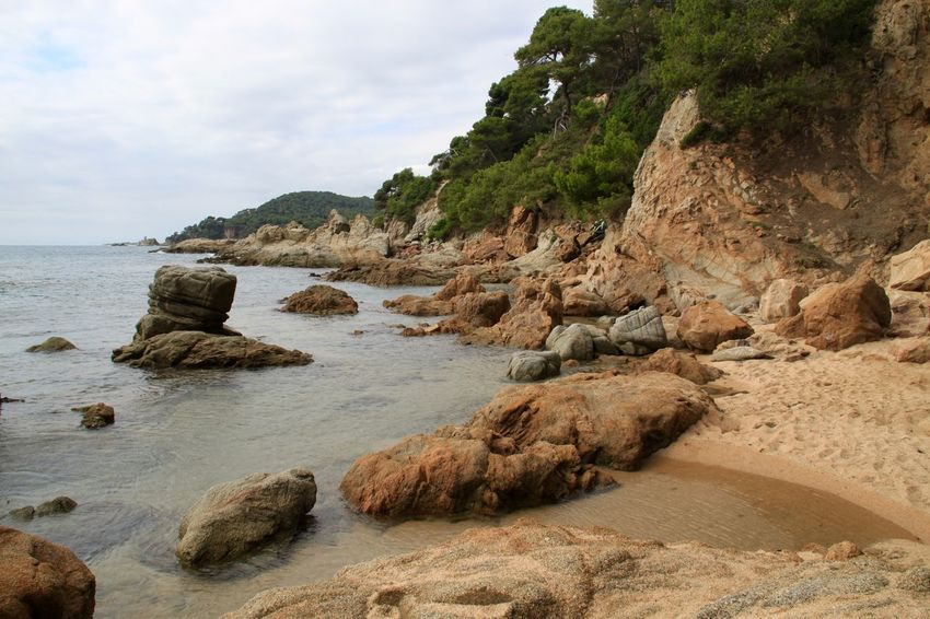 Beach Beauty In Nature Coast Landscape Lloret De Mar Lloretdemar Nature No People Platja De Fenals Rock - Object Scenics Sea SPAIN Water