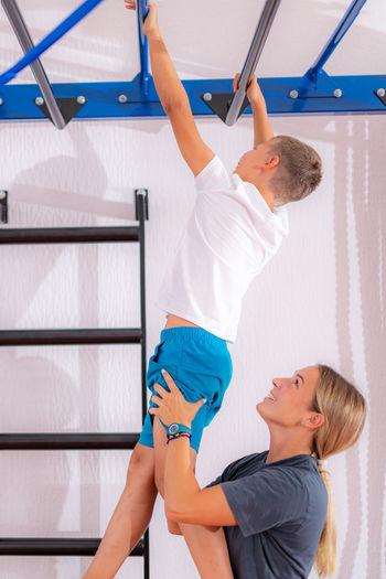Physical activity for children, monkey bar exercise