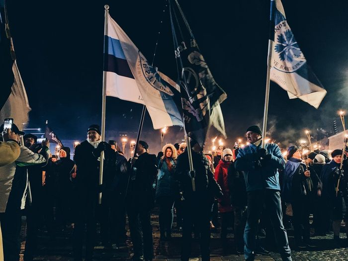 Estonia 101 Independence Celebration! Expression Rally Flags Parade Torch Freedom Of Expression Freedom Independance Day Anniversary Independence Group Of People Real People Large Group Of People Night Crowd Illuminated Men Event Enjoyment Music Women Performance Adult Arts Culture And Entertainment Lighting Equipment Togetherness Flag Occupation Lifestyles Stage