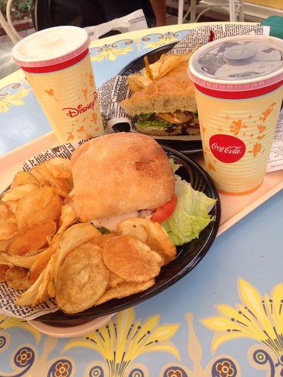 Chicken Burger Yummy Chips