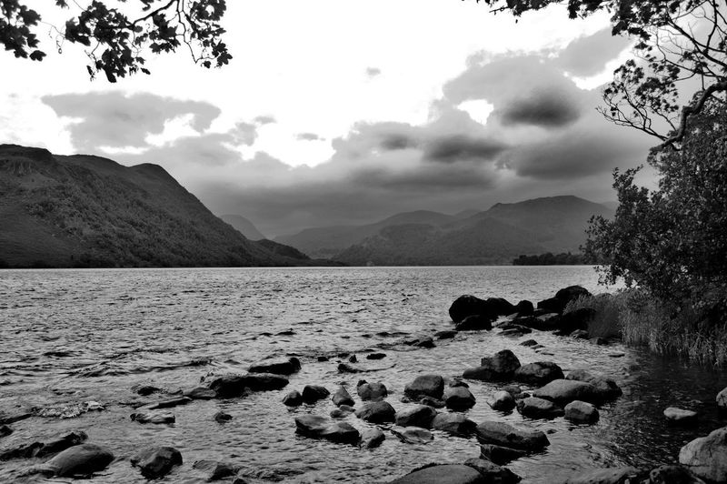 Ullswater view of mountains Cloud - Sky Beach Outdoors Landscape Mountain No People Sand Tranquility Sea Sky Nature Scenics Beauty In Nature Day Water The Week On EyeEm EyeEm Selects Taking Photos Nature Blackandwhite Photography Black And White Black & White EyeEmNewHere Black And White Friday