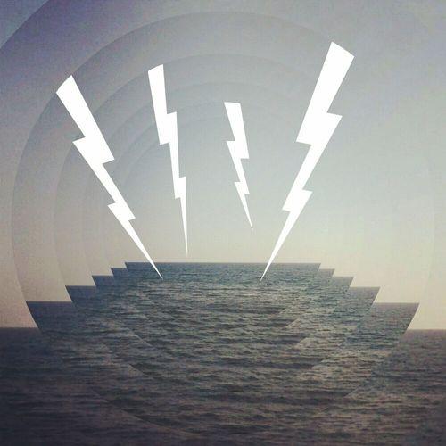 Lightning Edit Circles Beach