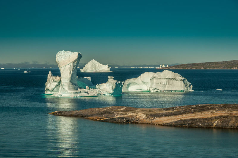 Scenic View Of Sea In Greenland