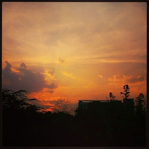Sunset shot with my LavaIrisX8 shared with Instagood Ig_hyderabad ig_india random latergram silhoutte sky nature mobilePhotography mobilePhotography