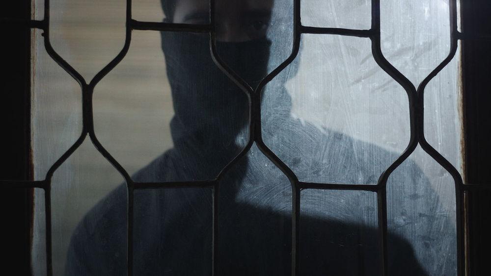 Black Scarf Burglar Close-up Dark Eye Fear Glance Horror Indoors  Intruder  Mask Mask - Disguise Mistery Peek Peeking Robbery Security Spy Thief Tresspassing Window