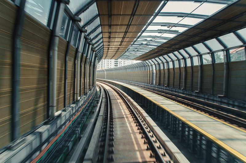 Interior on subway station