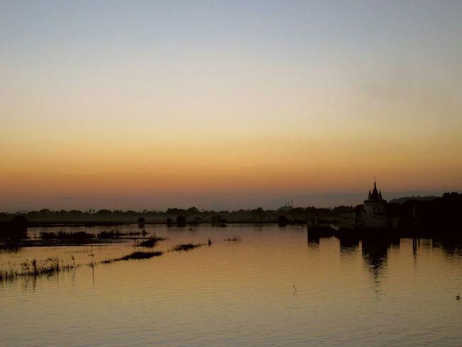 Beautiful sunset Taking Photos Hello World Relaxing Myanmar Asian  The _ Mazzalong Sunset Romance Ubeinbridge