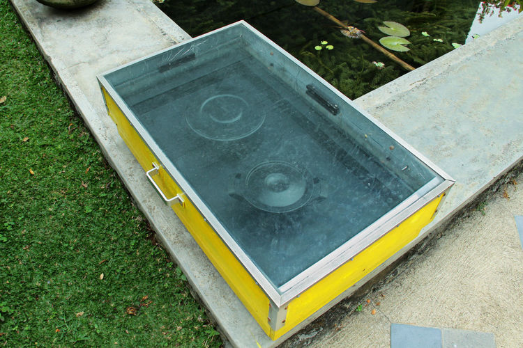 Solar Cooker Box Container Cooking Eco Energy Food Go Green High Angle View Let's Save Gas Making Food Modern Natural Nature Power Save Energy Save The Planet Saving Power Solar Solar Cooker Still Life Sun Sunlight Technology