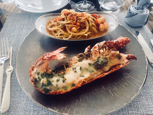 Lobsters Plate Food And Drink Food Italian Food Ready-to-eat Freshness Pasta Seafood Serving Size No People Table Meal