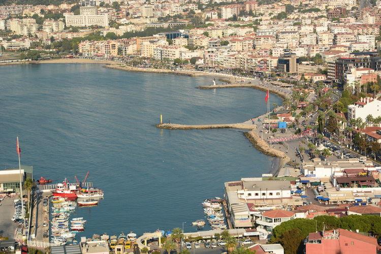View of the city promenade. kusadasi. turkey