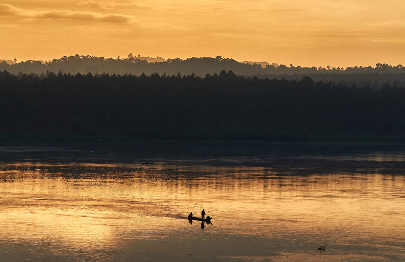 The west bank of the river nile during sunset