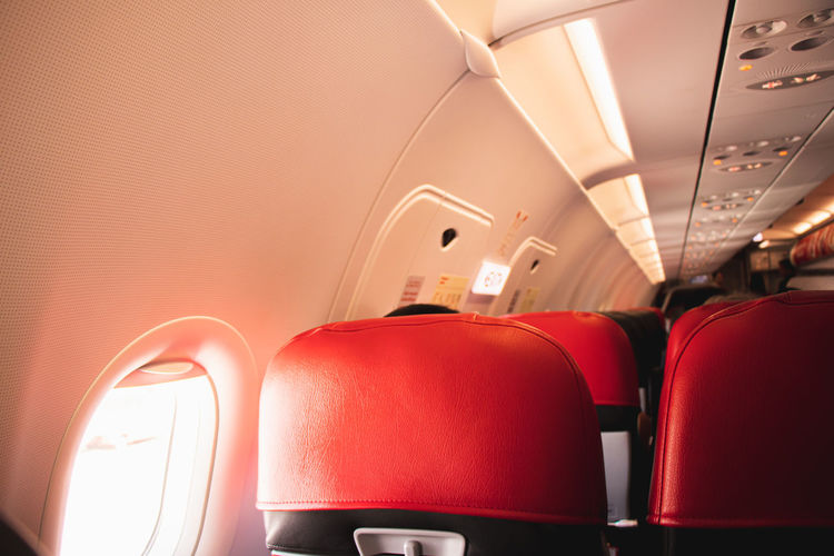 Interior of empty seats