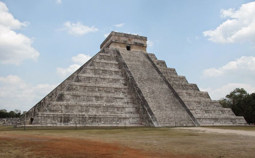 Low Angle View Of Chichen Itza