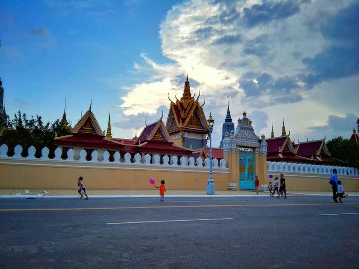 Before raining Evening Royalpalace Phnompenh