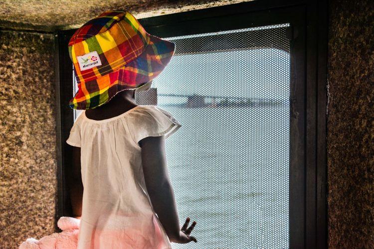 Toddlerlife Toddler Girl Bridge Over Water Bridges I've Seen Colors Colorful Hats Fort Totten