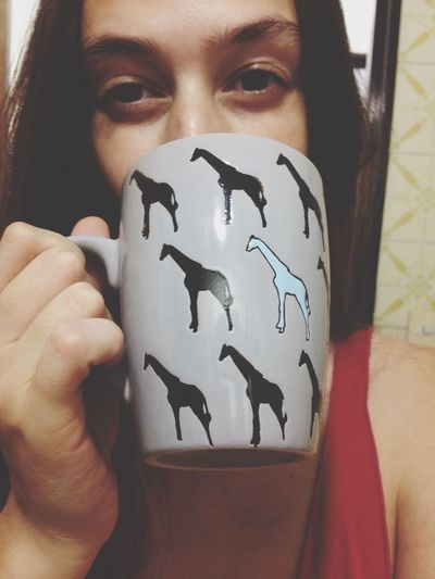Jirafa Taza Cup Animals Fashionista Moda Love PowerGirl Selfie ✌ Girl Style