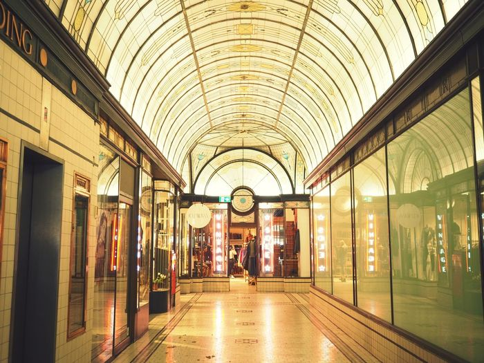 1920s-era shopping arcade (or mini shopping mall). I love this flapper era! Architecture Built Structure Walking Indoors  Real People Indoor Photography Perspective Photography 1920s Melbourne Nicholas Building Arcade Shopping People Day