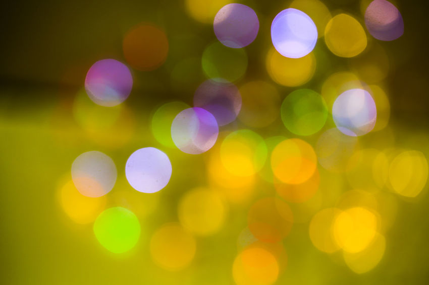 Abstract Abstract Backgrounds Backgrounds Bright Circle Decoration Defocused Disco Lights Electric Light Geometric Shape Glowing Illuminated Lens Flare Light Light - Natural Phenomenon Lighting Equipment Multi Colored Night No People Outdoors Pattern Shape Yellow