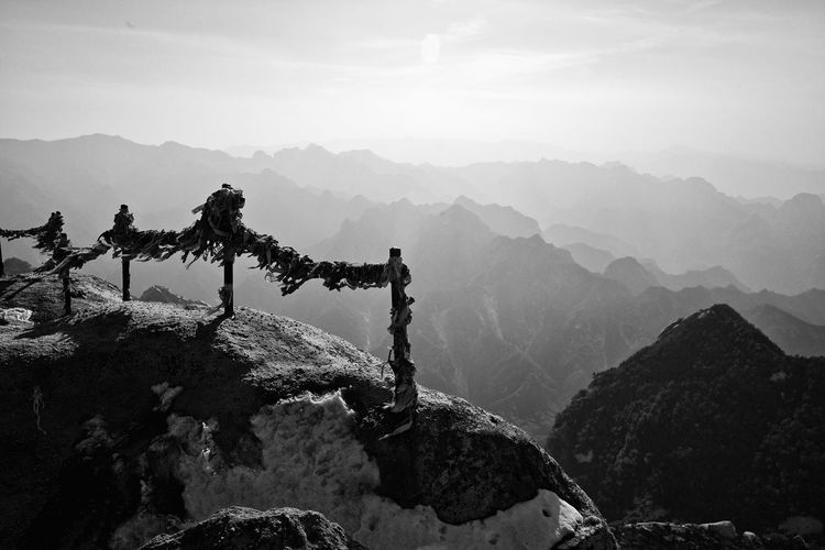 Ribbons Tied Up On Mt Hua