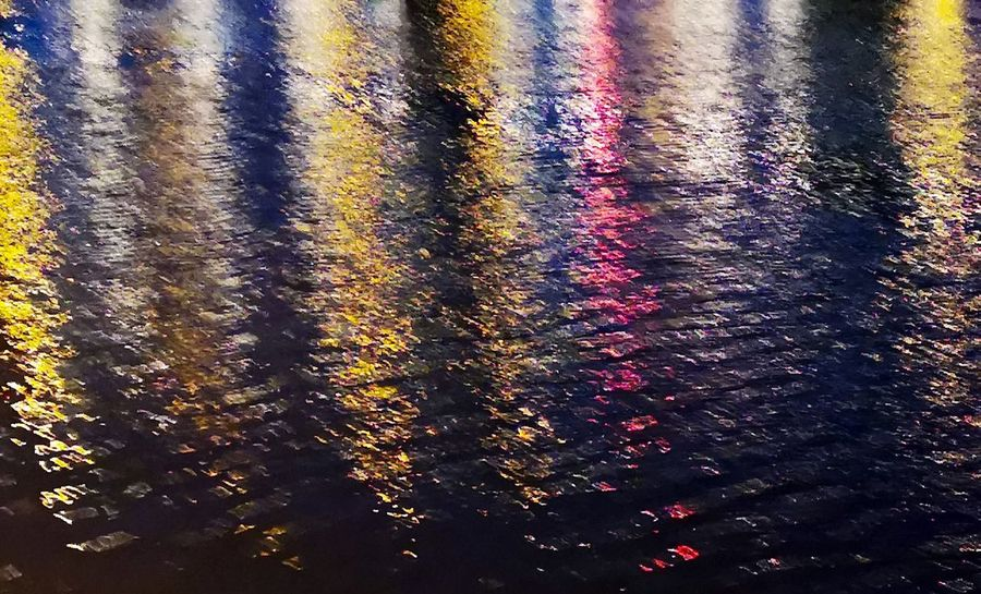 Lights on the river tyne River Tyne, Water Multi Colored Backgrounds Full Frame Reflection Close-up Seamless Pattern Textured  Wet