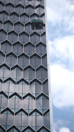 Shape Up 3 Hexagonal Pattern Thegraphiccity Architecture Building Exterior Built Structure Window Steel Façade Pattern Modern Low Angle View Cloud - Sky Sky Day No People Skyscraper Outdoors The Graphic City