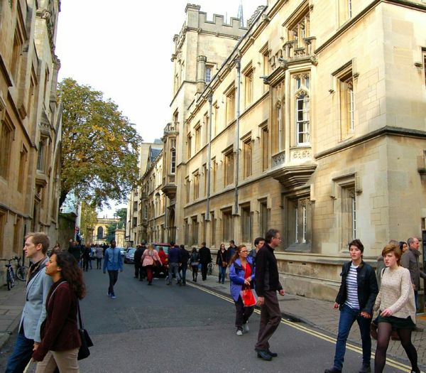 Walking in Oxford Lgbt Lesbian Lesbiansofinstagram Oxford This Is Queer City Men Women Full Length Tree Architecture Building Exterior Sky Built Structure Street Scene Visual Creativity Focus On The Story