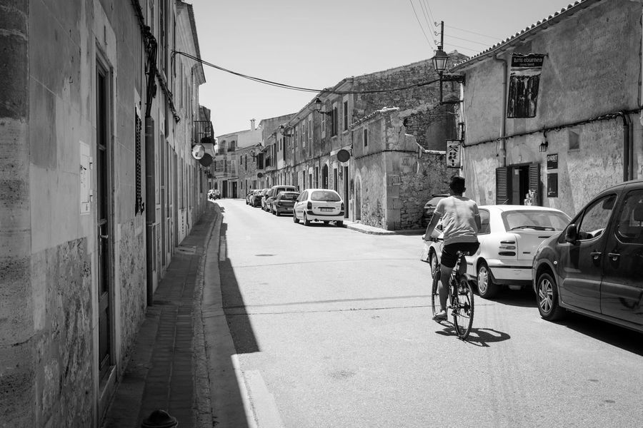 Transportation Land Vehicle Mode Of Transport Car Bicycle Street Outdoors Road Day Stationary Built Structure Architecture Building Exterior City Sky Telephone Line No People Santanyi Mallorca (Spain) Manuelkiese Mallorcaphotographer Mallorcaisland