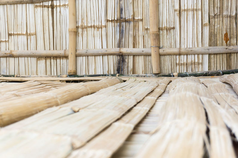 A newly build Nippa hut in the Philippines, made out of bamboo Angono, Rizal, Philippines Bamboo Day Nippa Hut Out Outdoors Rural Scene Wood - Material