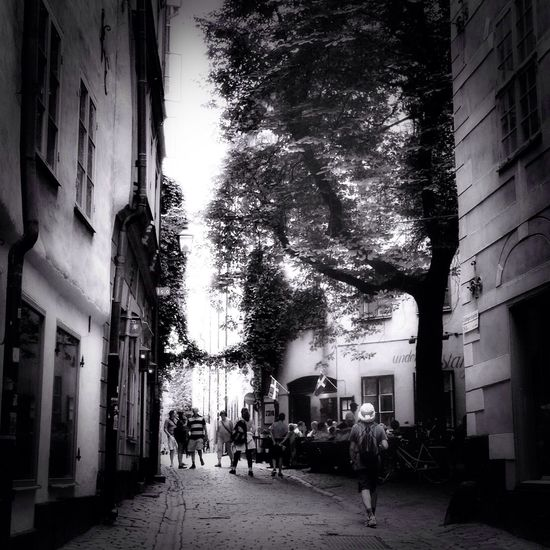 In the Old Town of Stockholm Mobilephotography Gamlastan Streetphoto_bw Discover Your City