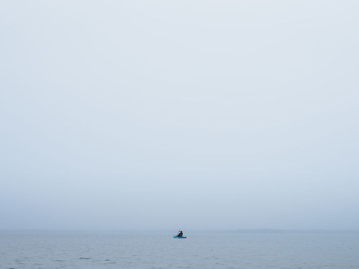 A lone kayaker