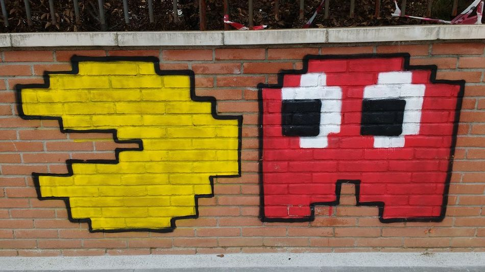 Eyemphotography Picture City Milano Milan,Italy Italy Colors Citylife Cool Pacman Red Photooftheday Graffiti