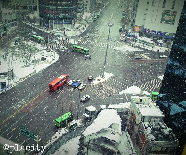 Urban Landscape Life In Motion Koreanstyle Seoul ShinChon Station Winter