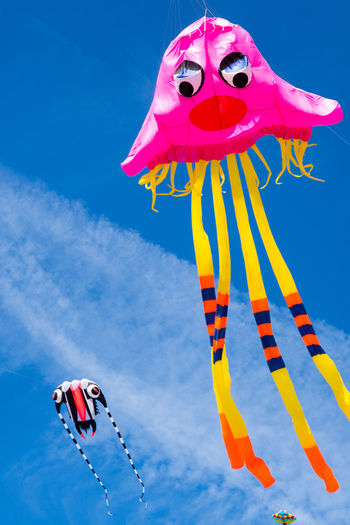 Kite Festival, Berck Beach Beachphotography Beauty Berck Blue Colors Cultures Day Flying Flying High France Fun Kite Festival Kite Flying Kites No People Outdoors Pink Sky Sunlight Tourist Attraction  Wind Wind Sailing Millennial Pink