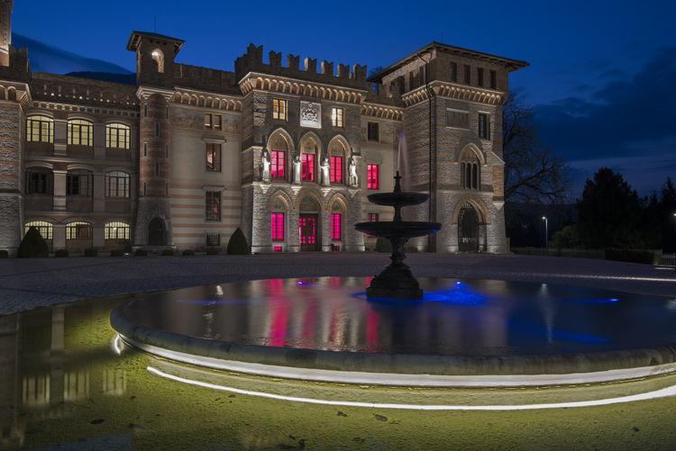 Blue Hour Castle Ceconi Friuli Venezia Giulia Italy Pielungo Pordenone, Italy Reflections Vito D'asio