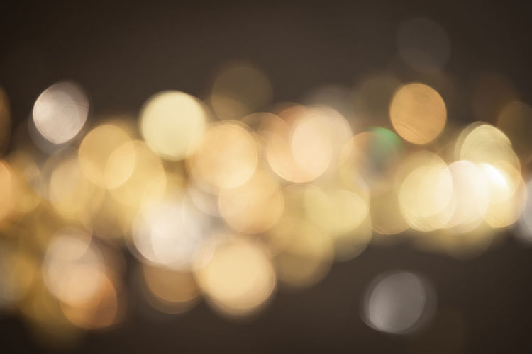 Defocused image of lights