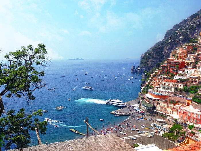 take me back ...... Beauty In Nature Blue Boat Cloud - Sky Coastline Day Horizon Over Water Idyllic Italy Mode Of Transport Nature Ocean Outdoors Positano, Italy Scenics Sea Shore Sky Tourism Tranquil Scene Tranquility Travel Travel Destinations Vacation Water