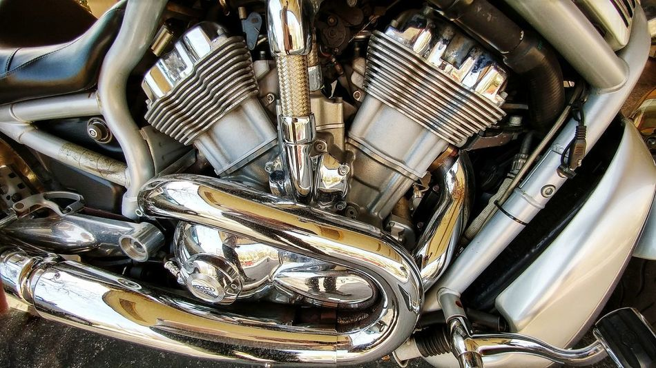 Motorcycle Abstract Close-up Full Frame