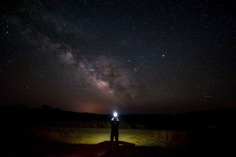 Night Standing Star - Space Scenics Tranquil Scene Tranquility Silhouette Star Field Beauty In Nature Landscape Beach Nature Sky Idyllic Galaxy Field Astronomy Non-urban Scene Dark Glowing